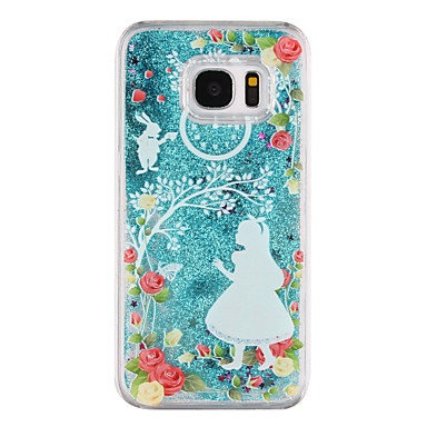 hercegnő minta áramló folyadék futóhomok csillogó műanyag pc Samsung Galaxy S7 él galaxis s7