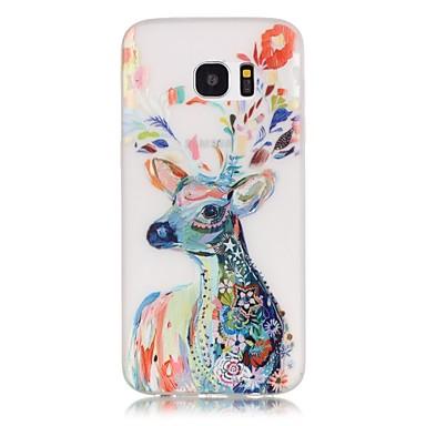 용 Samsung Galaxy S7 Edge 야광 / 패턴 케이스 뒷면 커버 케이스 동물 소프트 TPU Samsung S7 edge / S7 / S6 edge plus / S6 edge / S6 / S5 / S4 Mini / S3