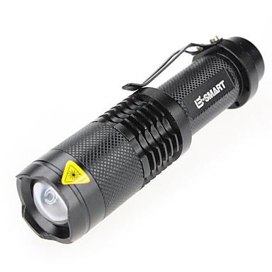 LED손전등 레이저 1000 lm 3 모드 - LED 줌이 가능한 미니 방수 캠핑/등산/동굴탐험 일상용 블랙