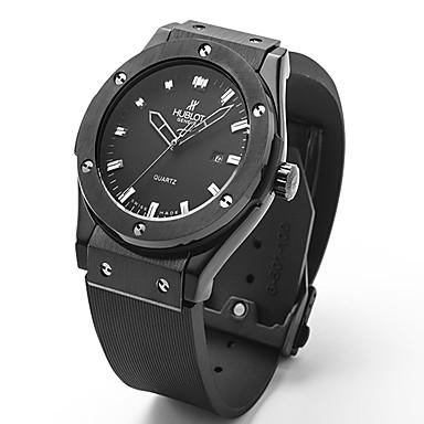 levne Pánské-Dámské Pro páry Unisex Módní hodinky Náramkové hodinky Křemenný Pryž Černá 30 m / Analogové Na běžné nošení - Černá Stříbrná Růžové zlato