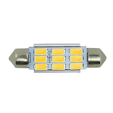 2x warm wit slinger 42mm 5630 9SMD high power dome kaart lading licentie licht 578