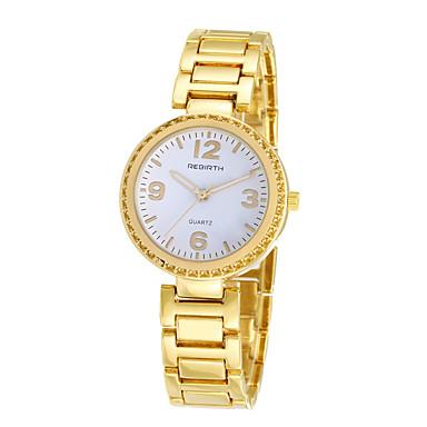 cheap Men's Watches-REBIRTH Women's Wrist Watch Quartz Black / Gold Hot Sale / Analog Ladies Casual Fashion - Gold Black / White Black