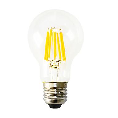 1 개 640-800 lm E26/E27 LED필라멘트 전구 B 8 LED가 COB 장식 따뜻한 화이트 AC 220-240V