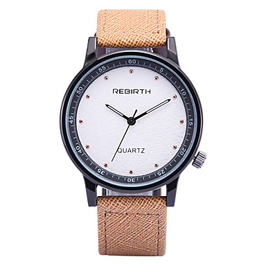 REBIRTH 남성용 석영 손목 시계 / 뜨거운 판매 PU 밴드 캐쥬얼 패션 블랙 블루 카키