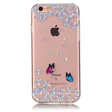 용 아이폰6케이스 / 아이폰6플러스 케이스 Other 케이스 뒷면 커버 케이스 꽃장식 소프트 TPU Apple iPhone 6s Plus/6 Plus / iPhone 6s/6 / iPhone SE/5s/5