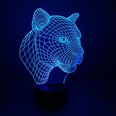 1db érintés 3 d led színes látás lámpa ajándék légkör asztali lámpa színe megváltozik éjszakai fény