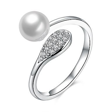 Dames Ring Uniek ontwerp Parel Sterling zilver Zirkonia Sieraden Verjaardag liiketoiminta Lahja Dagelijks Toimisto & ura