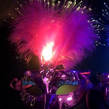 1pc led véletlen színes hallowmas labda színpadon modern szeszélyes maszk éjszakai fény
