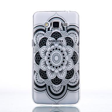 Mert Samsung Galaxy tok Átlátszó Case Hátlap Case Mandala Puha TPU Samsung J7 / J5 (2016) / J5 / J3 (2016) / Grand Prime / Core Prime