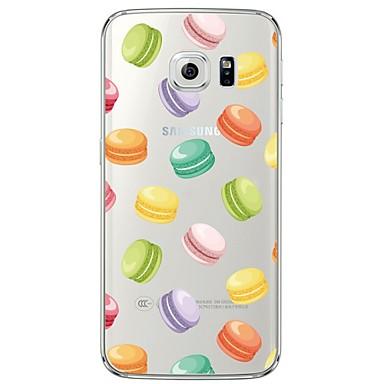 용 Samsung Galaxy S7 Edge 투명 / 패턴 케이스 뒷면 커버 케이스 카툰 소프트 TPU Samsung S7 edge / S7 / S6 edge plus / S6 edge / S6 / S5 / S4