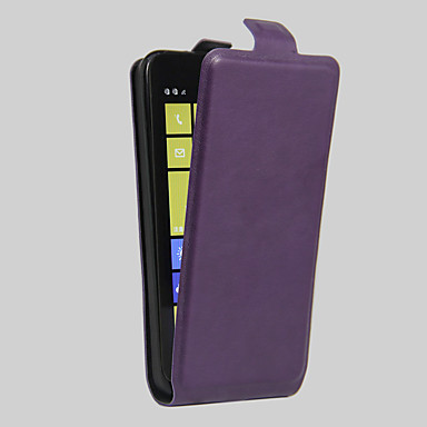 용 노키아 케이스 카드 홀더 / 충격방지 / 방진 케이스 풀 바디 케이스 단색 하드 인조 가죽 Nokia Nokia Lumia 630 / Other