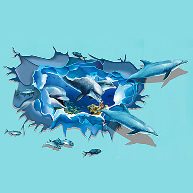 3D Falimatrica Repülőgép matricák / 3D-s falmatricák Dekoratív falmatricák,PVC Anyag Eltávolítható lakberendezési fali matrica