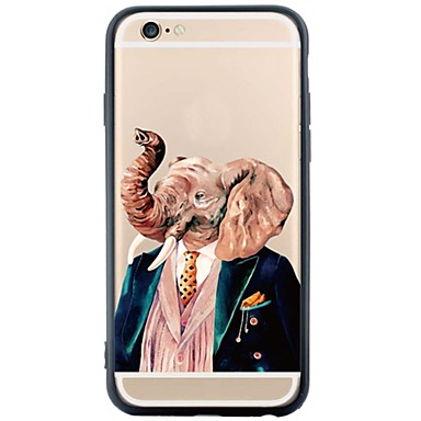 용 아이폰6케이스 / 아이폰6플러스 케이스 방진 / 패턴 케이스 뒷면 커버 케이스 코끼리 소프트 TPU Apple iPhone 6s Plus/6 Plus / iPhone 6s/6 / iPhone SE/5s/5