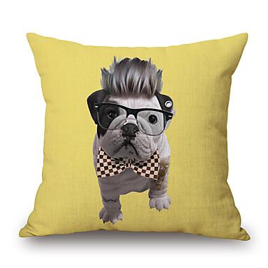 szt Cotton / Linen Pokrywa Pillow, Wzór zwierzęcy Textured Nowość Na co dzień Akcent / Decorative Modern / Contemporary