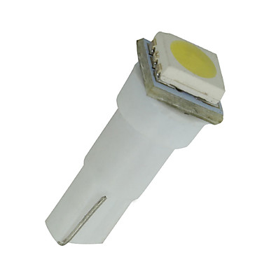 10pcs t5 carro 5050 1smd cunha xenon branco lâmpadas led 74 17 18 37 70 2721