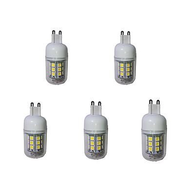 3000-3200/6000-6500 lm G9 LED kukorica izzók T 27 led SMD 5050 Dekoratív Meleg fehér Hideg fehér AC 220-240V