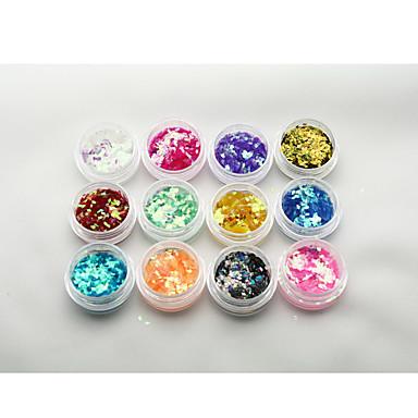 1 Köröm ékszer Glitter & Poudre Flitter Absztrakt Klasszikus Glitter & Sparkle Napi Jó minőség Körömművészeti tervezés