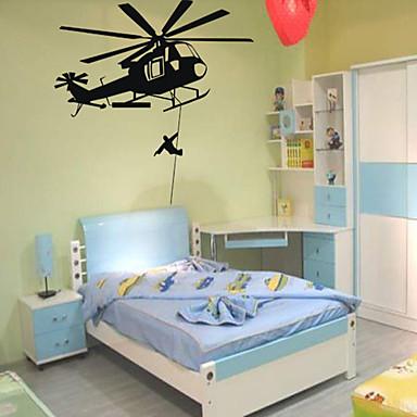 Katonai Falimatrica Repülőgép matricák Dekoratív falmatricák,PVC Anyag Újra-pozícionálható lakberendezési fali matrica