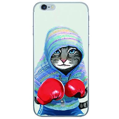 Case Kompatibilitás Apple iPhone 6 iPhone 6 Plus Ultra-vékeny Átlátszó Fekete tok Rajzfilm Puha TPU mert iPhone 6s Plus iPhone 6s iPhone