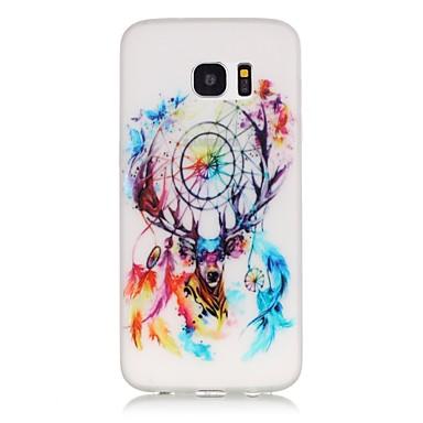 Case Kompatibilitás Samsung Galaxy Samsung Galaxy S7 Edge Foszforeszkáló Minta Fekete tok Álomfogó Puha TPU mert S7 edge S7 S6 edge plus