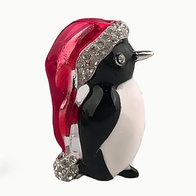 női kedves kis állat bross karácsonyi ékszer ötvözet zománc kristály strasszos napi / alkalmi kitűző ajándékba