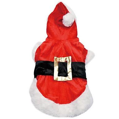 Kutya Jelmezek Kapucnis felsőrész Kutyaruházat Szerepjáték Karácsony Egyszínű Piros Jelmez Háziállatok számára