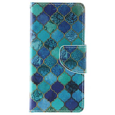 Mert iPhone 6 tok / iPhone 6 Plus tok Pénztárca / Kártyatartó / Ütésálló / Porálló / Állvánnyal Case Teljes védelem Case Mértani formák