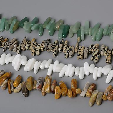 beadia természetes kő gyöngyök 10-30mm szabálytalan alakú kő távtartó gyöngyök 38cm / str (kb 50db)