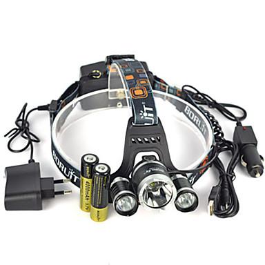 헤드램프 헤드라이트 안전 등 LED 13000 lm 1 모드 LED 배터리, 충전기 포함 앵글헤드 슈퍼 라이트 자동차에 적합 캠핑/등산/동굴탐험 일상용 사이클링 사냥 의 motocycle 여행 멀티기능 등산