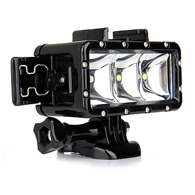 Spot Light LED Vízhatlan ház Beépített VAKU mert Akciókamera Gopro 5 Gopro 3 Gopro 2 Gopro 3+ Gopro 1 Sport DV SJCAM SJ7000 SJCAM SJ9000