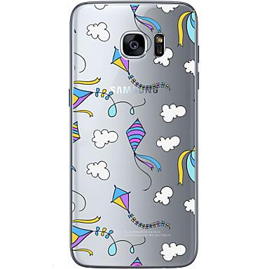 voordelige Galaxy S-serie hoesjes / covers-hoesje Voor Samsung Galaxy S7 edge / S7 / S6 edge plus Patroon Achterkant Balloon Zacht TPU