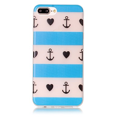 Mert iPhone 7 tok / iPhone 7 Plus tok / iPhone 6 tok Foszforeszkáló / Minta Case Hátlap Case Szív Puha TPU AppleiPhone 7 Plus / iPhone 7