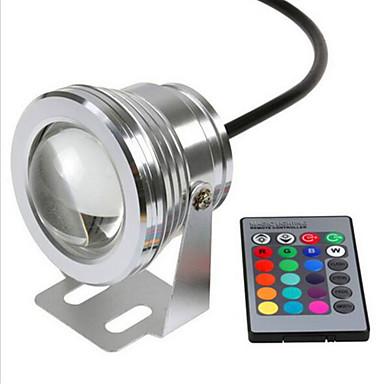 Rgb 10w undervattenslampa vattentät säkerhetsspänning dc12v undervattensfärgade ljus v1pc
