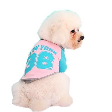 Кошка Собака Толстовка Одежда для собак Контрастных цветов Буквы и цифры Желтый Красный Синий Розовый Флис Хлопок Костюм Для домашних