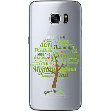 용 Samsung Galaxy S7 Edge 패턴 케이스 뒷면 커버 케이스 풍경 소프트 TPU Samsung S7 edge / S7 / S6 edge plus / S6 edge / S6