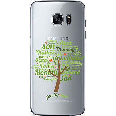 Mert Samsung Galaxy S7 Edge Minta Case Hátlap Case Látvány Puha TPU Samsung S7 edge / S7 / S6 edge plus / S6 edge / S6