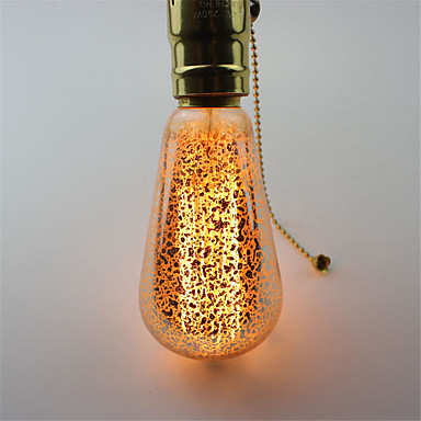 60W E27 Hehkulamput ST64 1 COB 500 lm Lämmin valkoinen Koristeltu AC 220-240 V 1 kpl