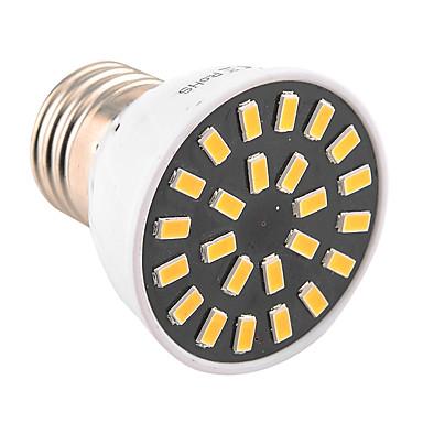 YWXLIGHT® 400-500lm E26 / E27 Żarówki punktowe LED MR16 24 Koraliki LED SMD 5733 Dekoracyjna Ciepła biel Zimna biel 110-130V 220-240V
