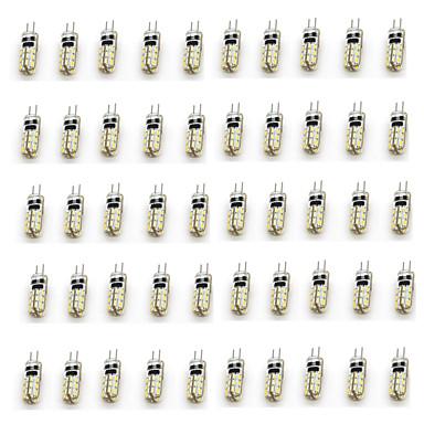 50szt 2W 90-110 lm G4 Żarówki LED bi-pin T 24 Diody lED SMD 3014 Dekoracyjna Ciepła biel Zimna biel DC 12V