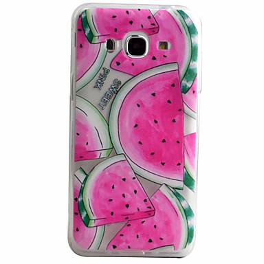 voordelige Galaxy J-serie hoesjes / covers-hoesje Voor Samsung Galaxy J5 (2016) / J5 / J3 (2016) Patroon Achterkant Fruit Zacht TPU