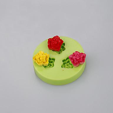 bálna alakú szilikon torta penész a virágok fondant csokoládé öntőforma polimer agyag szerszámok ramdon színű