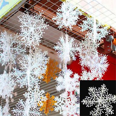 30pcs Crăciun zăpadă fulgi alb zăpadă ornamente vacanță Crăciun copac decorare festival partid