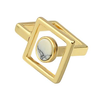 Gyűrűk Divat Parti / Napi Ékszerek Ötvözet Női Karikagyűrűk 1db,8 Aranyozott