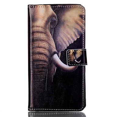 Pentru Portofel Titluar Card Cu Stand Întoarce Model Magnetic Maska Corp Plin Maska Elefant Greu PU piele pentru Sony Other