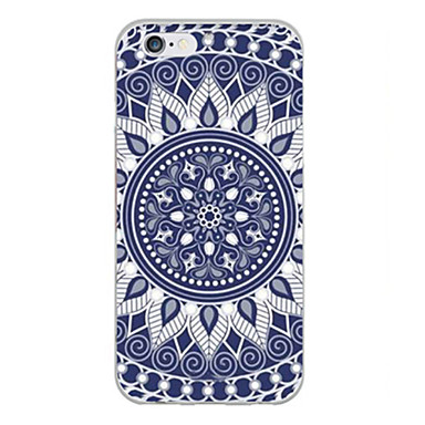 Capinha Para iPhone X iPhone 8 iPhone 6 Plus iPhone 6 Ultra-Fina Estampada Capa Traseira Mandala Macia TPU para iPhone X iPhone 8 Plus