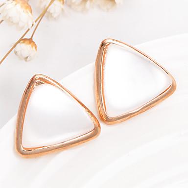 Divat Régies (Vintage) Arannyal bevont Opál Ötvözet Triangle Shape Arany/fehér Ékszerek Mert Esküvő Parti 1 pár