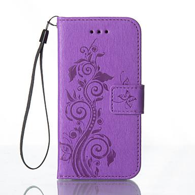 Case Kompatibilitás Samsung Galaxy Samsung Galaxy S7 Edge Kártyatartó Pénztárca Állvánnyal Dombornyomott Héjtok Virág Kemény PU bőr mert