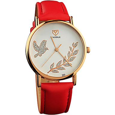 YAZOLE 아가씨들 패션 시계 손목 시계 캐쥬얼 시계 석영 / PU 밴드 멋진 캐쥬얼 블랙 화이트 레드 브라운