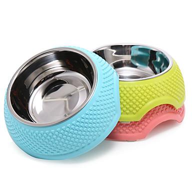 Γάτα Σκύλος Μπολ & Μπουκάλια Νερού Τροφοδότες Κατοικίδια Μπολ & Διατροφή Φορητό Πτυσσόμενο Κίτρινο Μπλε Ροζ