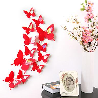 애니멀 벽 스티커 3D 월 스티커 데코레이티브 월 스티커 / 냉장고 스티커 / 웨딩 스티커,pvc 자료 이동가능 / 재부착가능 홈 장식 벽 데칼